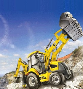EARTHMOVING CRANE And ROAD ROLLER